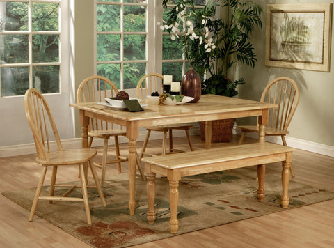 6-PIECE DINING TABLE SET IN NATURAL FINISH 4361