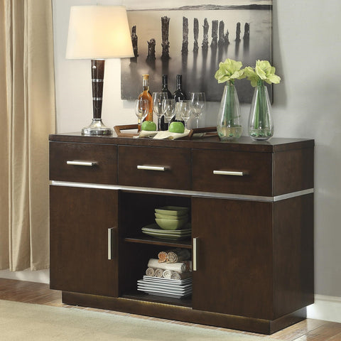 Lincoln Contemporary Server with LED Lighting 106895