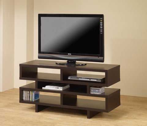 CAPPUCCINO MEDIA TV CONSOLE WITH OPEN STORAGE 700720