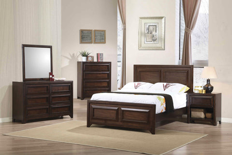 Greenough Maple Oak 4 PCS Full Panel Bedroom Set 400821F