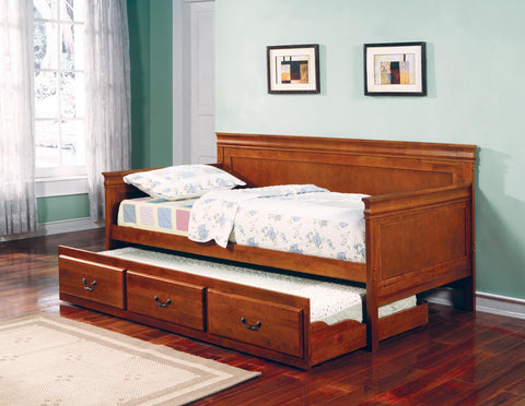 LOUIS PHILIPPE OAK TWIN DAYBED WITH TRUNDLE 30036OAK