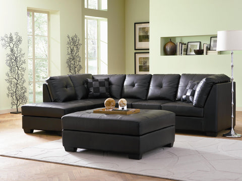 COASTER 500606 DARIE BLACK SECTIONAL WITH CHAISE