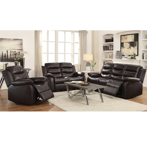 RODMAN DARK BROWN MOTION SOFA AND LOVE SEAT 602221