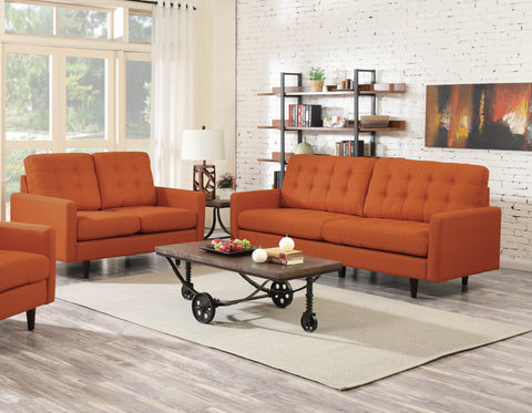 KESSON LINEN LIKE FABRIC 2 PIECES SOFA AND LOVESEAT