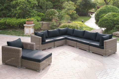 POUNDEX 420 8PC OUTDOOR SECTIONAL SET