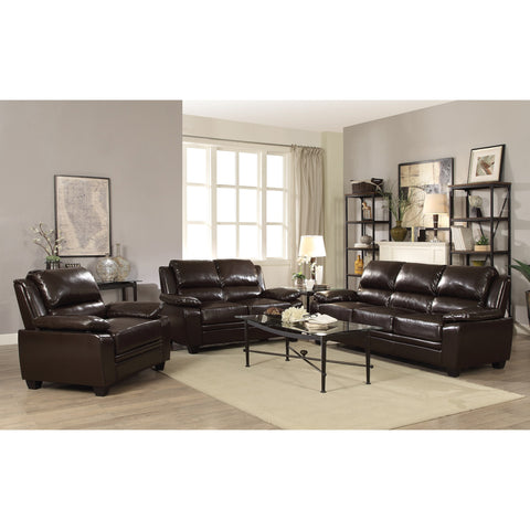 GRYFFIN DARK BROWN SOFA AND LOVE SEAT 505561
