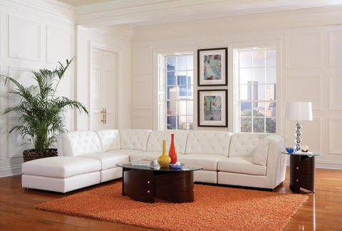 Quinn Transitional Modular Sectional Sofa White