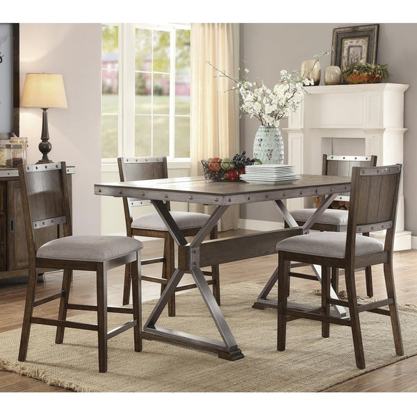 BECKETT DARK ASH 6 PC COUNTER HEIGHT TABLE TABLE 107018