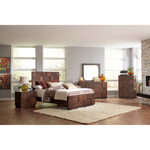 GALLAGHER GOLDEN BROWN 4 PCS QUEEN BEDROOM SET 200851