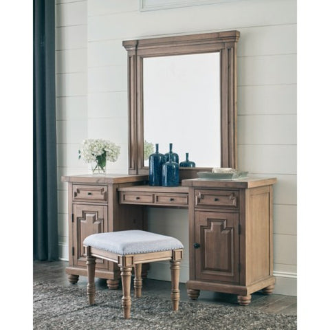 Florence Rustic Two-Tier Vanity Desk Set 205177