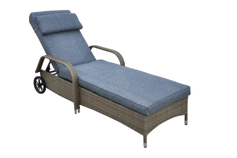 POUNDEX P50164 WICKER ADJUSTABLE OUTDOOR LOUNGER