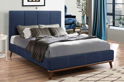 COASTER 300626 CHARITY BLUE WOVEN UPHOLSTERED BED