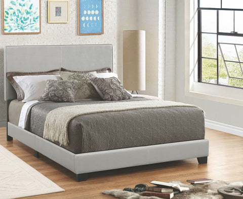 DORIAN GREY LEATHERETTE UPHOLSTERED BED 300763