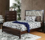 FURNITURE OF AMERICA CM7412 WINNIFRED CHERRY PANEL BED