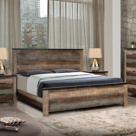 COASTER 205091 SEMBENE MULTI COLORED SOLID WOOD BED