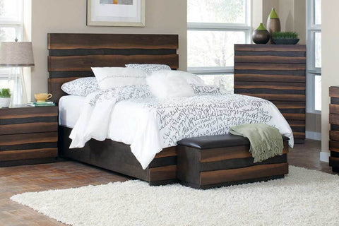 COASTER 205121 OCTAVIA COFFEE AND SAPPY WALNUT BED