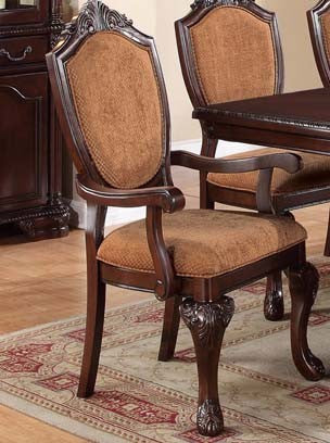 POUNDEX F1392 DINING ARM CHAIR SET OF 2