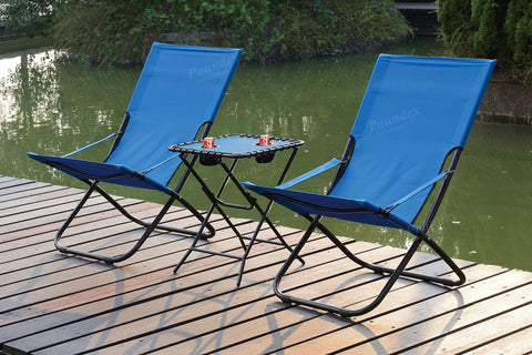 POUNDEX P50171 FOLD-ABLE OUTDOOR CHAIRS SET OF 2