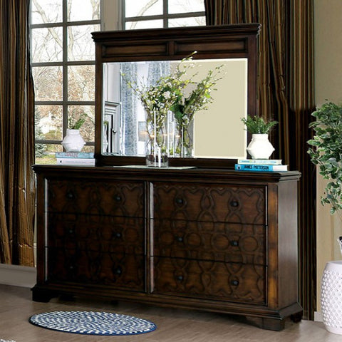 FURNITURE OF AMERICA CM7839D MINERVA WOOD INLAY DRESSER