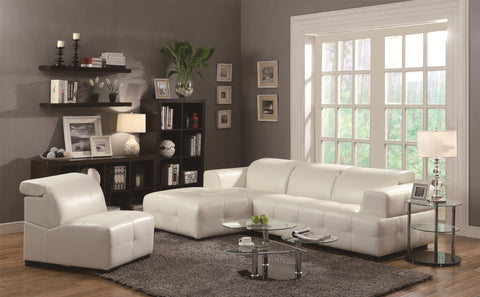 DARBY WHITE CONTEMPORARY SECTIONAL SOFA