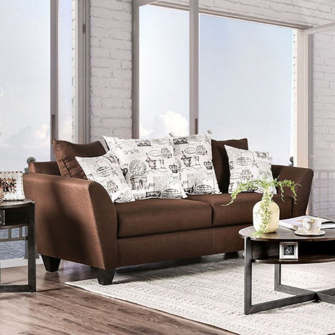 FURNITURE OF AMERICA SM6203 DELANIE CONTEMPORARY SOFA