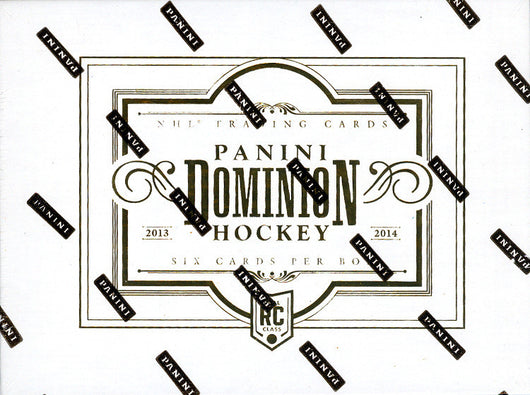 13-14 PANINI DOMINION HOCKEY HOBBY 8 BOX FULL CASE # 7 PRE-SELL BREAKFEST WEEKEND FOR FRIDAY APRIL 5TH BEST DEAL PERIOD