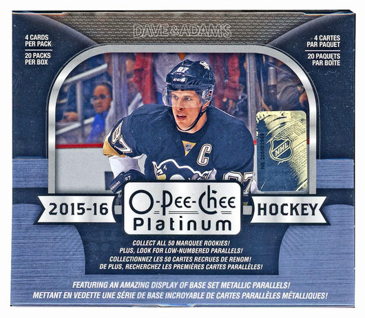15-16 UPPER DECK O-PEE-CHEE PLATINUM HOCKEY HOBBY 16 BOX FULL MASTER CASE BREAK # 5E  PRESELL FOR BREAKFEST FOR SUNDAY APRIL 7TH HUGE WEEKEND BEST DEAL PERIOD