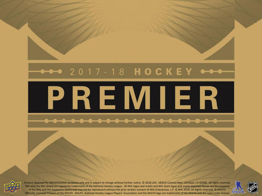 17-18 UPPER DECK PREMIER HOCKEY HOBBY 10-BOX FULL MASTER CASE BREAK # 6FF PRE-SELLIN THIS BREAK FOR FRIDAY