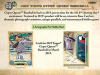 2019 TOPPS GYPSY QUEEN BASEBALL HOBBY 10-BOX CASE BREAK PYT # 1AA ALL CARDS SHIPPED PRE SELL BREAK FOR SATURDAY APRIL 6TH FOR HUGE BREAKFEST WEEKEND!! BEST DEAL'S ANYWHERE