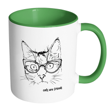 cats are friends Accent Mug