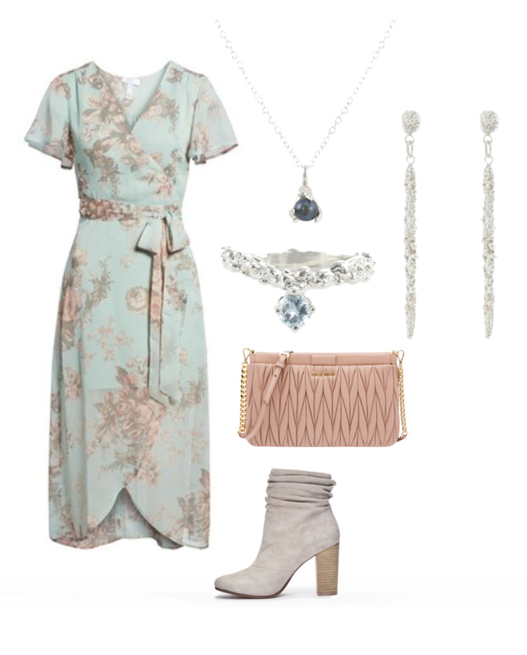 Spring Floral Style with sterling silver jewelry
