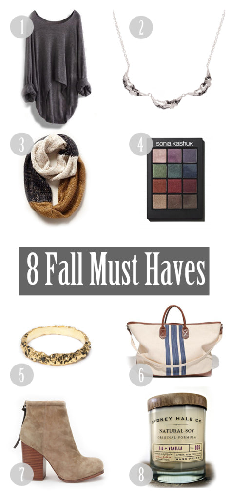 8 Fall Must Haves
