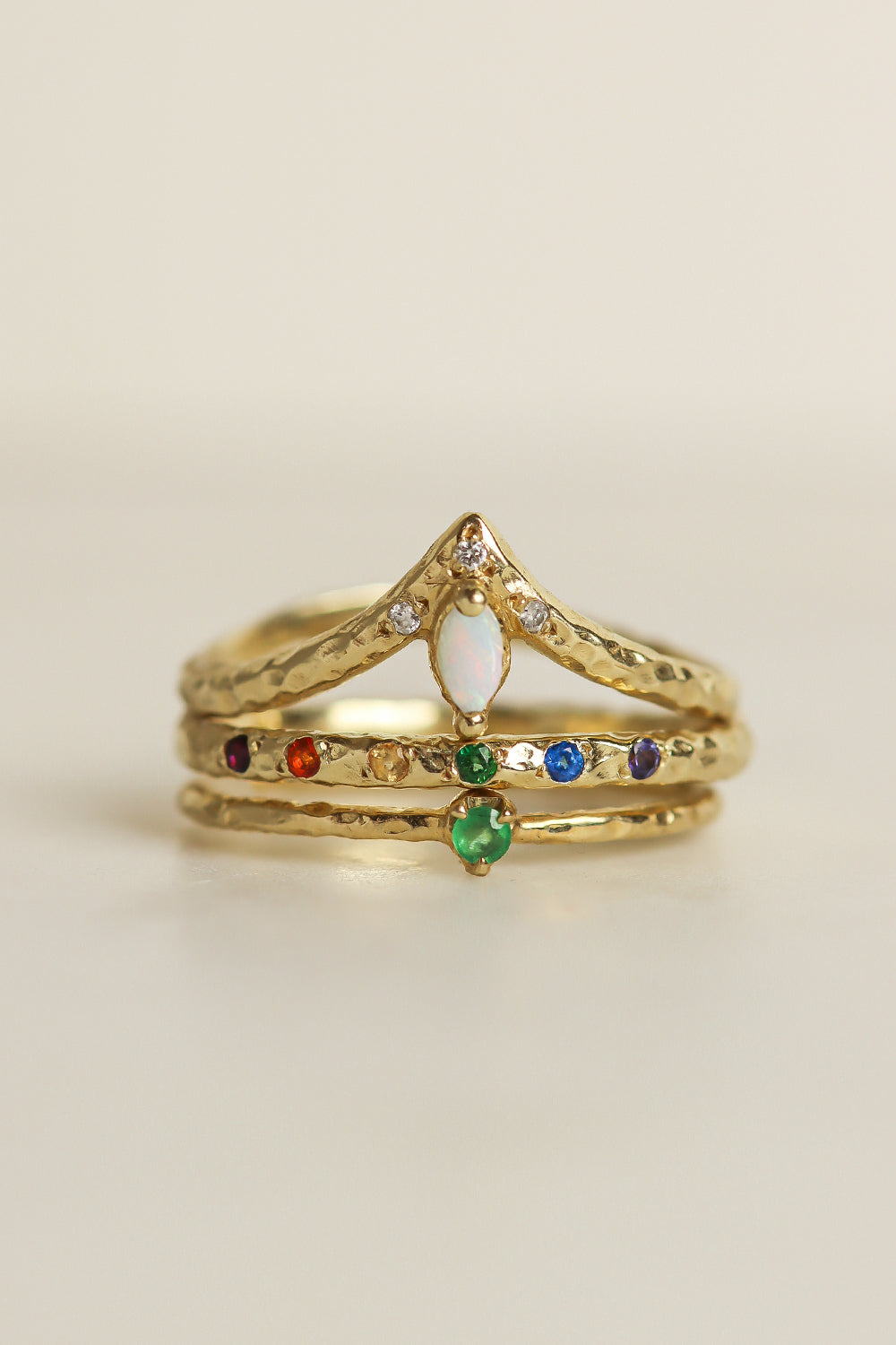 colorful-solid-gold-ring-stack