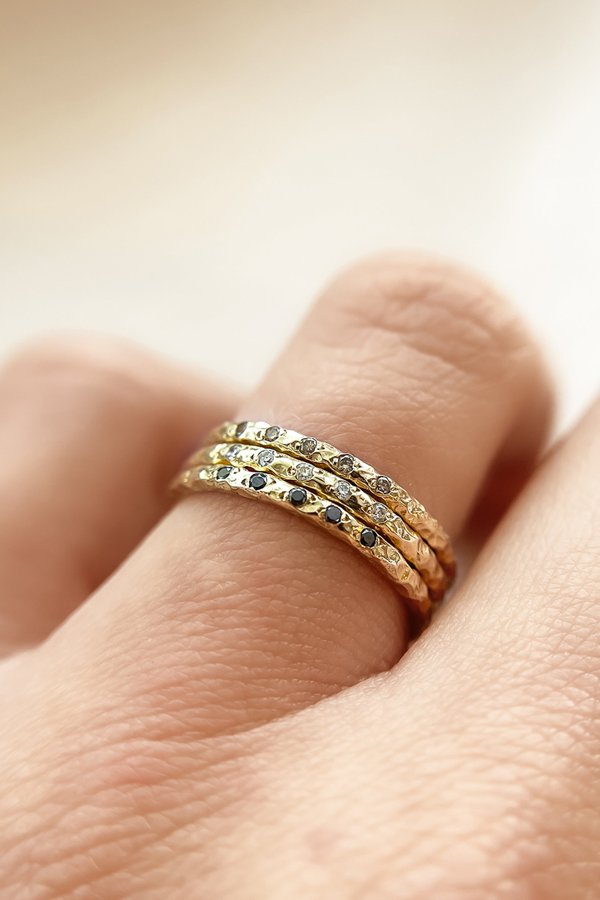 gold-textured-bands-diamond-stacking-rings