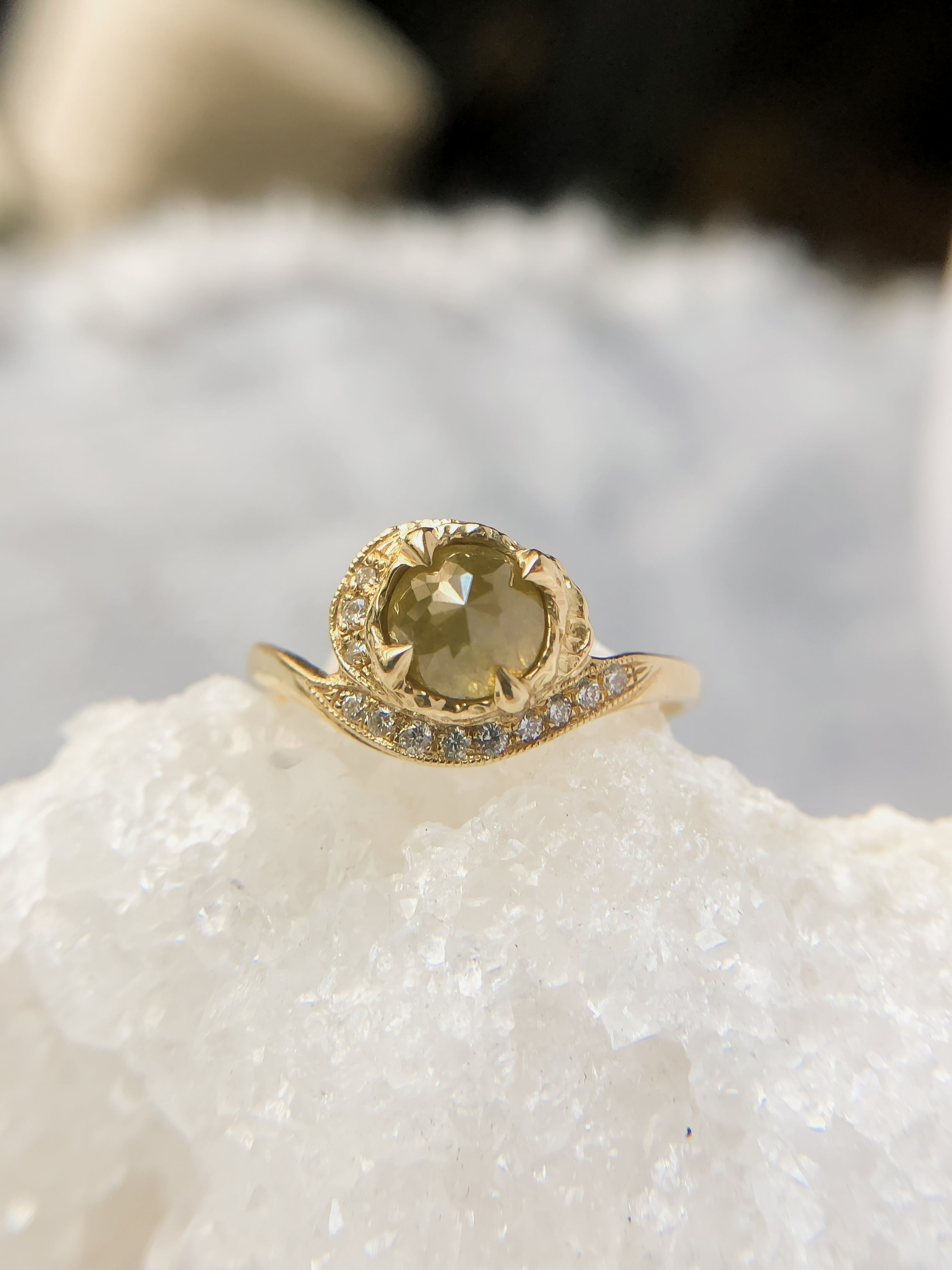one-of-a-kind-rose-cut-diamond-ring