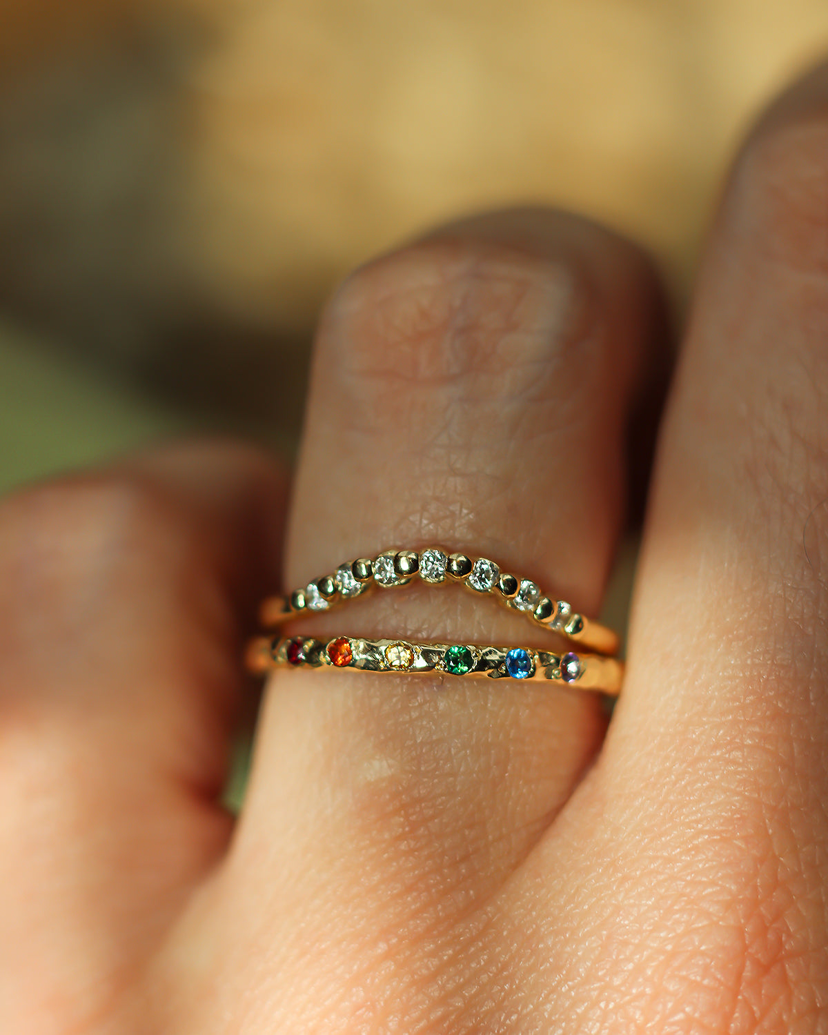 solid-gold-rainbow-and-diamond-rings