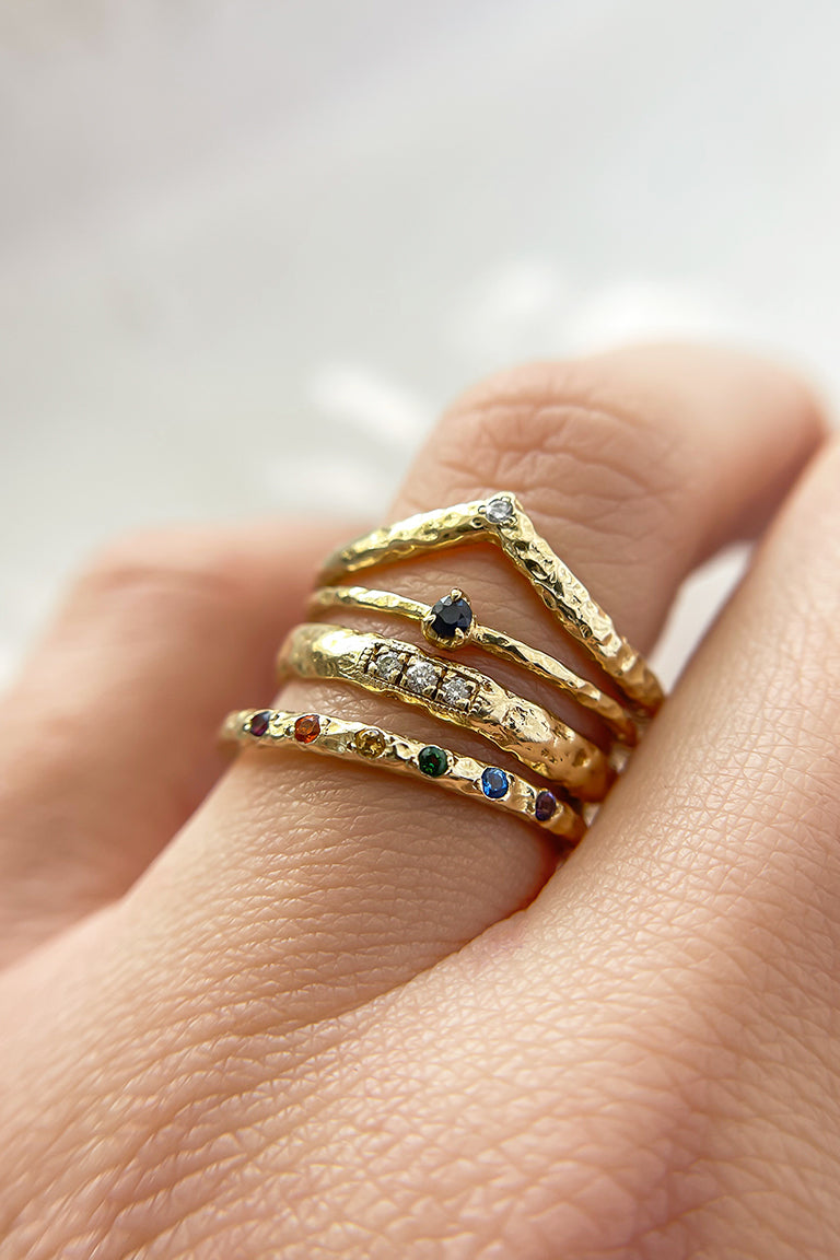 textured-gold-stacking-rings
