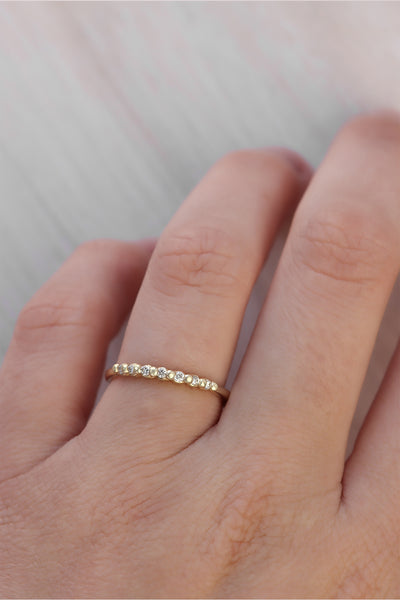 Solid Gold Timeless Diamond Ring