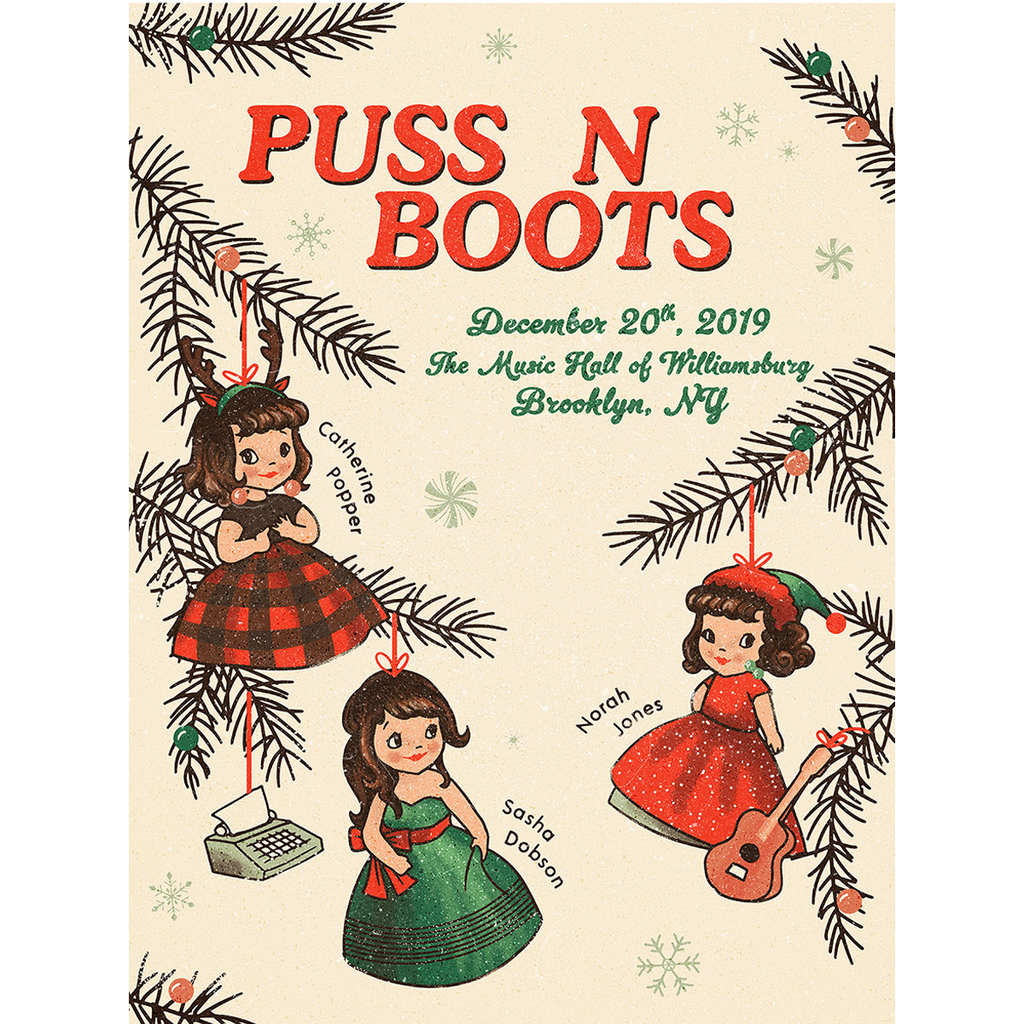 Puss N Boots Ornaments Poster New York 2019 - Norah Jones