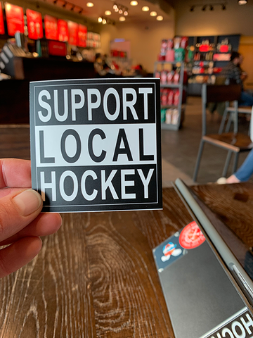 """Support Local Hockey"" Sticker (3-Pack)"