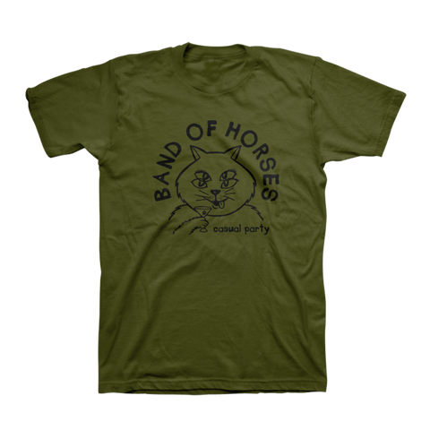 Casual Cat Unisex Tee (Olive) - Band of Horses Store