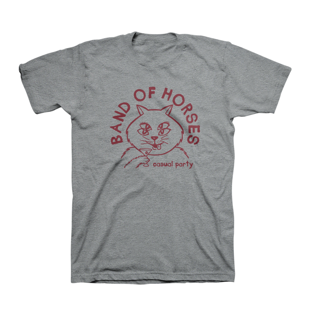 Casual Cat Unisex Tee (Heather Grey) - Band of Horses Store