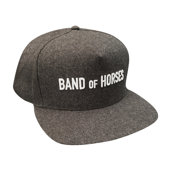 Grey Wool Snapback Hat - Band of Horses Store