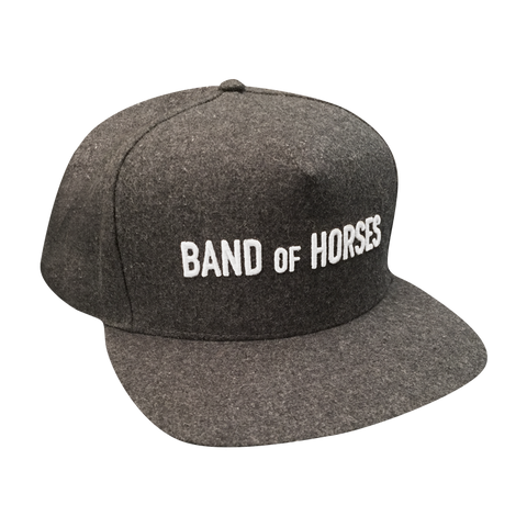 Grey Wool Snapback Hat - Band of Horses - 1