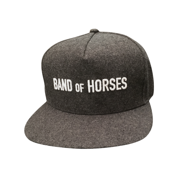 Grey Wool Snapback Hat - Band of Horses - 2