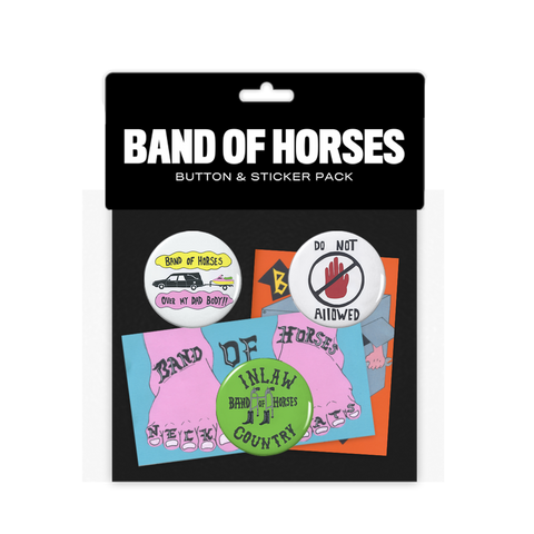 Button Sticker Pack - Band of Horses Store