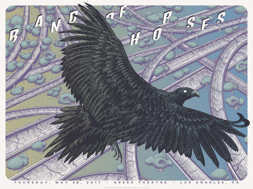 Greek Theatre Event Poster (5.25.17) - Band of Horses Store