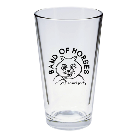 Casual Cat Pint Glass - Band of Horses Store