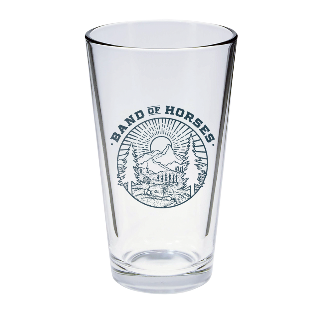 Mountain Landscape Pint Glass - Band of Horses Store