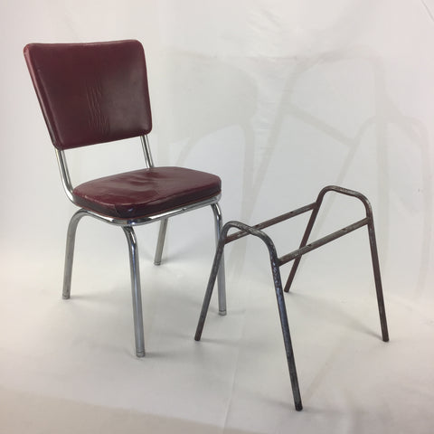 before image of metal chair